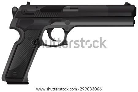 close up  pistol gun in modern