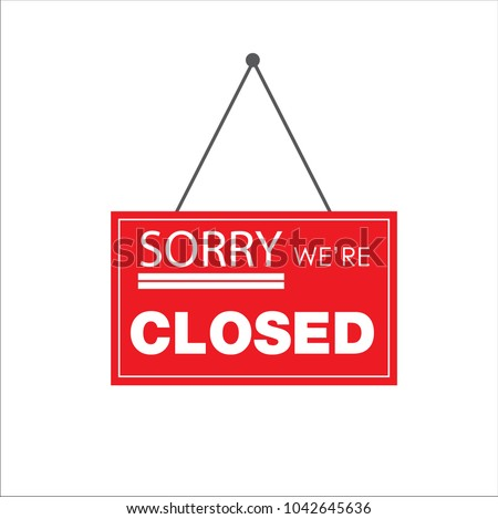 Closed Store Sign Vector