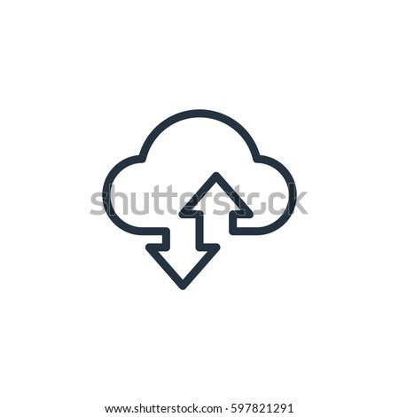 cloud line icon on white