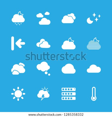 16 cloudy icons with three