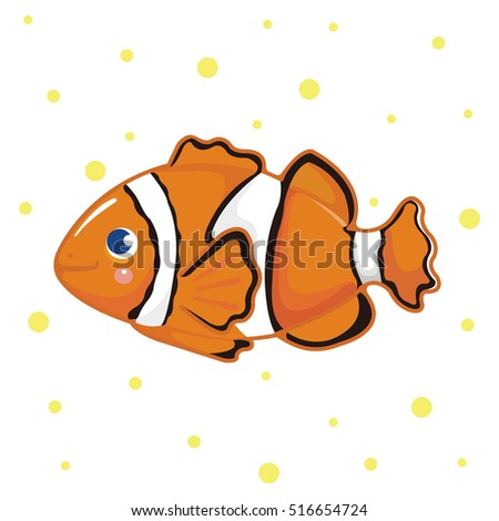 clown fish fish isolated on
