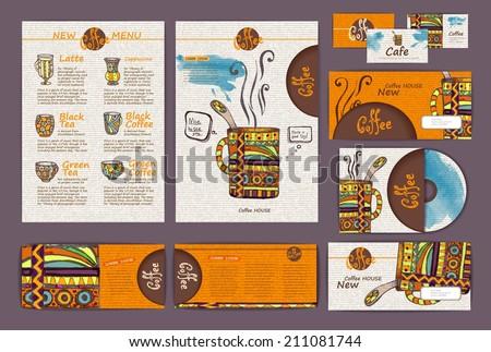 coffee concept design. Corporate identity