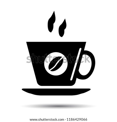 Coffee cup Icon, Vector cafe