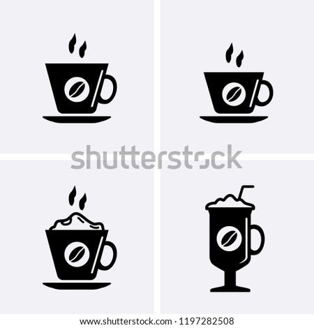 Coffee cup Icons, Vector cafe set