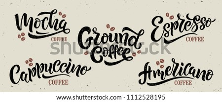 5 coffee quotes vector text