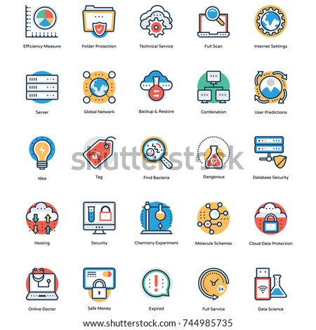 Collection of Science and Technology Icons