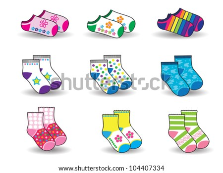 collection of socks for baby