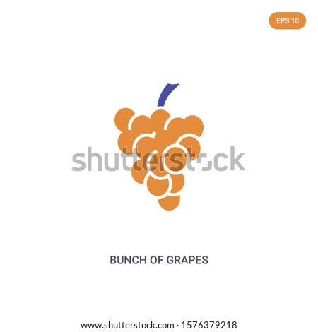 2 color bunch of grapes concept