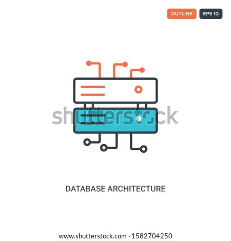 2 color database architecture
