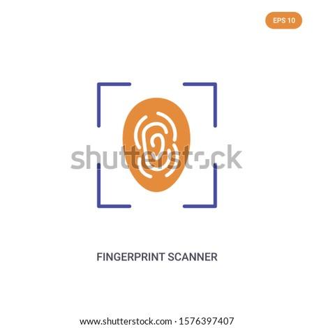 2 color fingerprint scanner