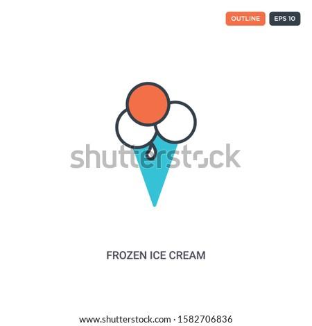 2 color frozen ice cream