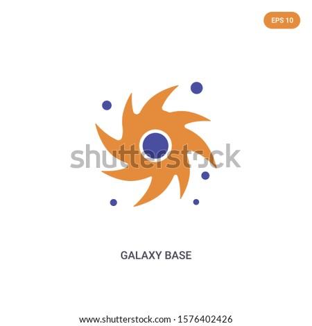 2 color galaxy base concept