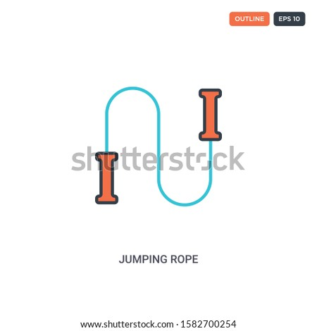 2 color jumping rope concept