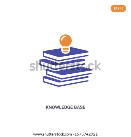 2 color Knowledge Base concept vector icon. isolated two color Knowledge Base vector sign symbol designed with blue and orange colors can be use for web, mobile and logo. eps 10.