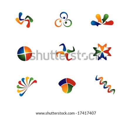 4 color Logo Abstract - stock vector