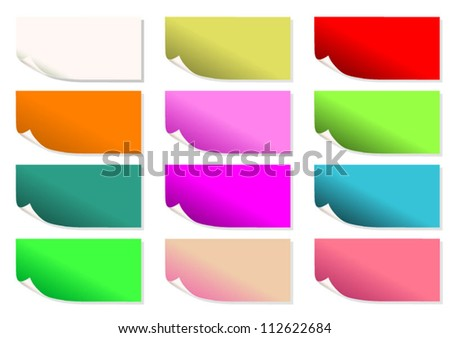 12 Color Note Pad
