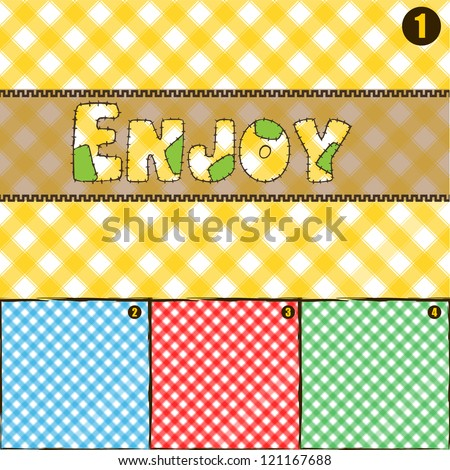 4 color pic nic pattern texture