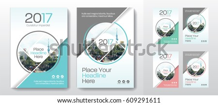 3 Color Schemes with City Background Business Book Cover Design Template set in A4. Can be adapt to Brochure, Annual Report, Magazine,Poster, Corporate Presentation, Portfolio, Flyer, Banner, Website
