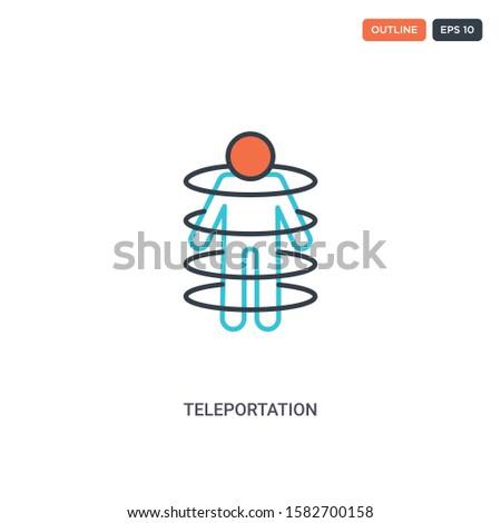 2 color teleportation concept