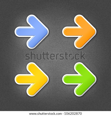 4 colored arrow sign stickers
