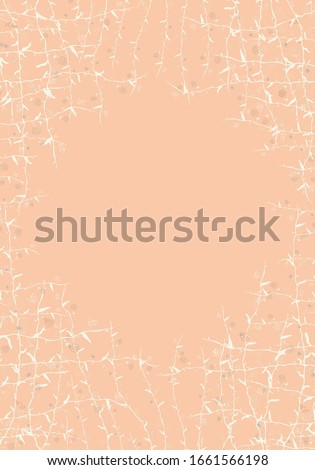 Colored background with flowers.For greeting cards, announcements, invitations, advertising.Vector illustration