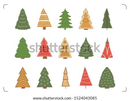 15 colored hand drawn christmas