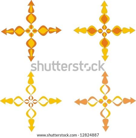 4 Colored Vector Ornaments