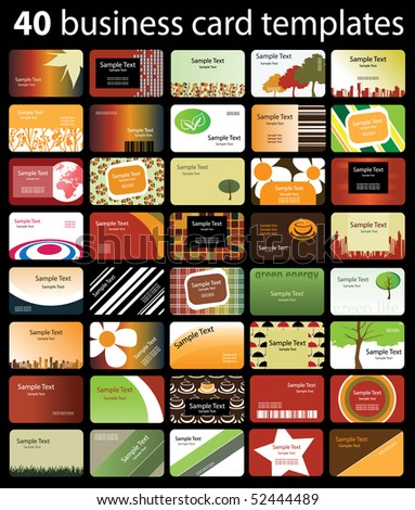 40 Colorful Business Cards