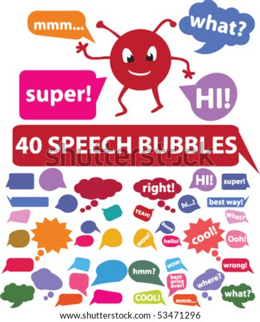 20 colorful comics bubbles stickers. vector