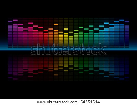colorful graphic equalizer
