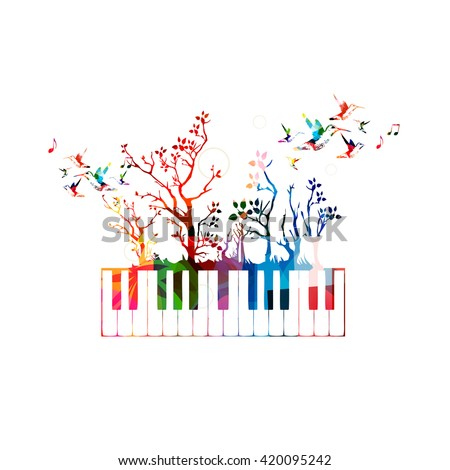 colorful music background with