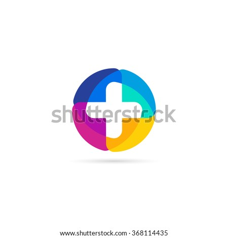 colorful vector cross logo