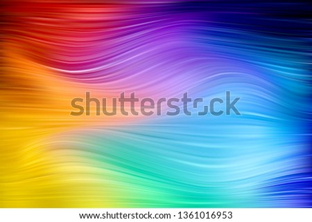 Colorful wavy abstract background. Wavy colored lines, acrylic texture