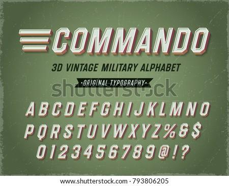 'commando' vintage retro 3d
