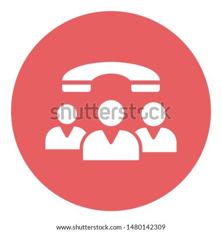 Communication, group communication Isolated Vector icon which can easily be edit