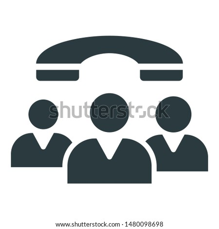 Communication, group communication Isolated Vector icon which can easily edit