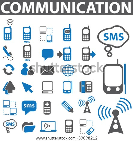 30 communication icons. vector