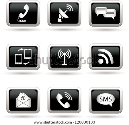 Communication icons. Vector illustration.