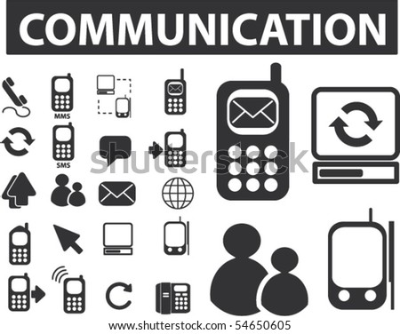 20 communication signs. vector