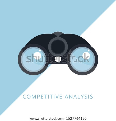 Competitive analysis - Data analysis - Market competition - Business strategy. Concept of line icon