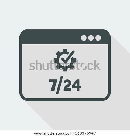 7 24 computer check   vector