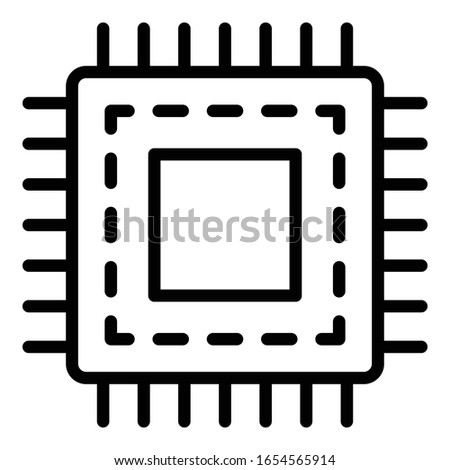 Computer chip, cpu Isolated Isolated Vector icon which can easily modify or edit