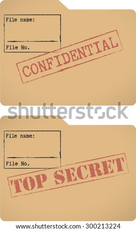 'Confidential' and 'Top secret' document file templates Stock photo ©