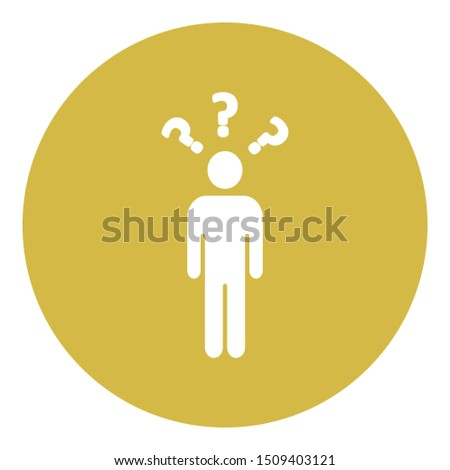 Confused customer, confused person Isolate Vector icon which can easily modify color style or also edit the shape