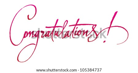 """Congratulations"" original handwritten calligraphy for your logo, poster, ad or website"