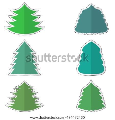 coniferous tree stickers