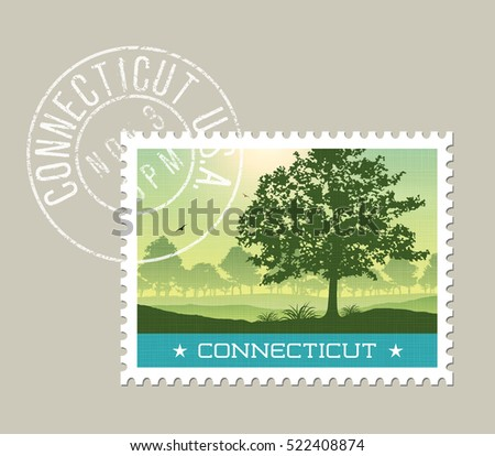 connecticut postage stamp