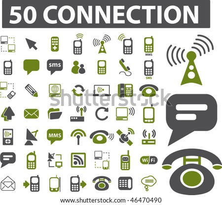 50 connection signs. vector