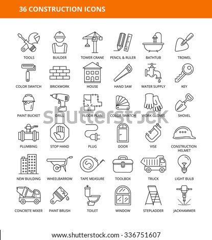 36 CONSTRUCTION ICONS