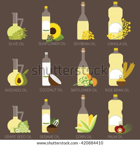 12 cooking oils in bottle